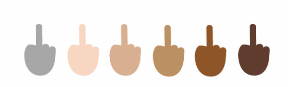 Emoji dedo medio para Windows10, racial
