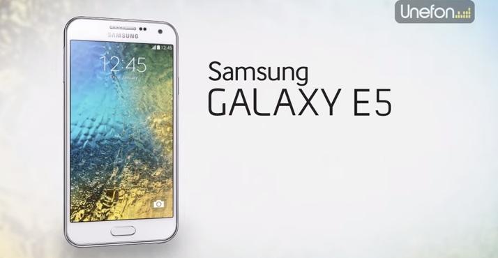 Samsung Galaxy E5 en México con Unefon