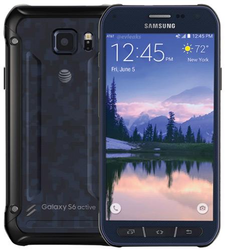 Samsung Galaxy S6 Active  color azul camuflaje
