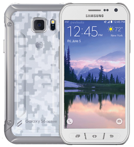 Samsung Galaxy S6 Active color blanco camuflaje