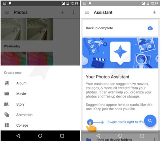 Google app Fotos, asistente