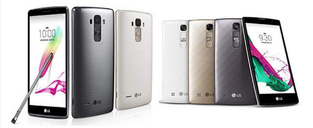 LG G4 Stylus y LG G4c