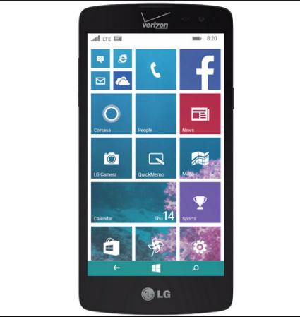 LG Lancet con Verizon frente