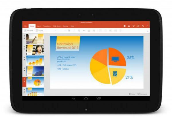 Microsoft Office en tabletas Android