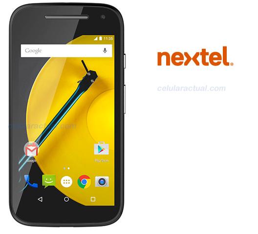 Moto E con Nextel México