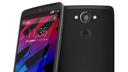 Moto Maxx color negro cámara y pantalla