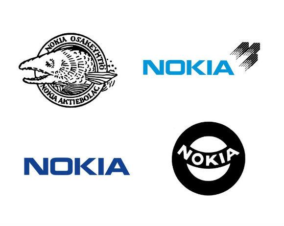 Nokia logotipos en su historia