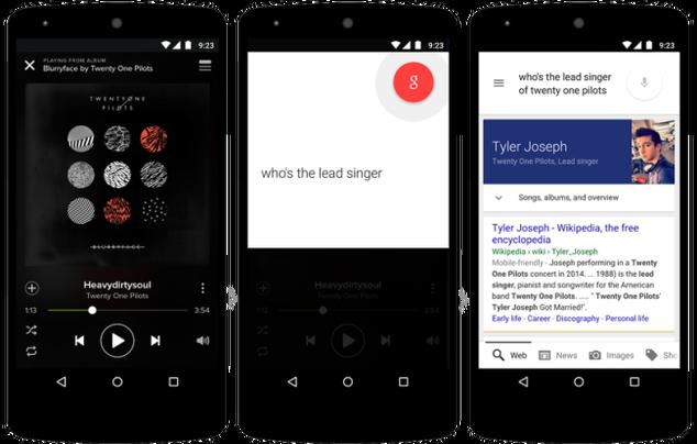 Google Now on Tap pantallas
