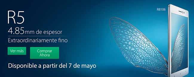 Oppo R5 en México con Telcel