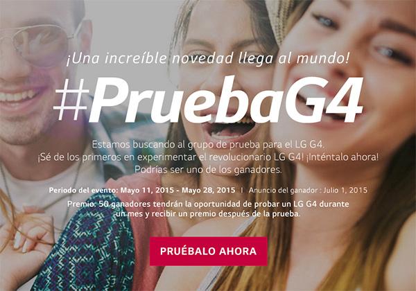 LG G4 Grupo de prueba en México