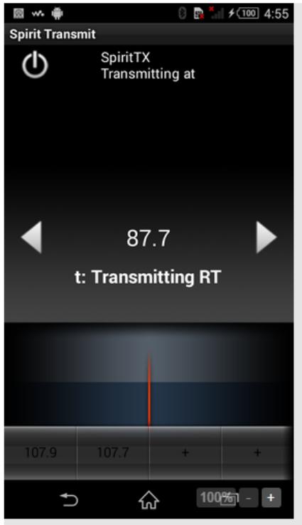 App Sony Sirit Transmit para radio FM