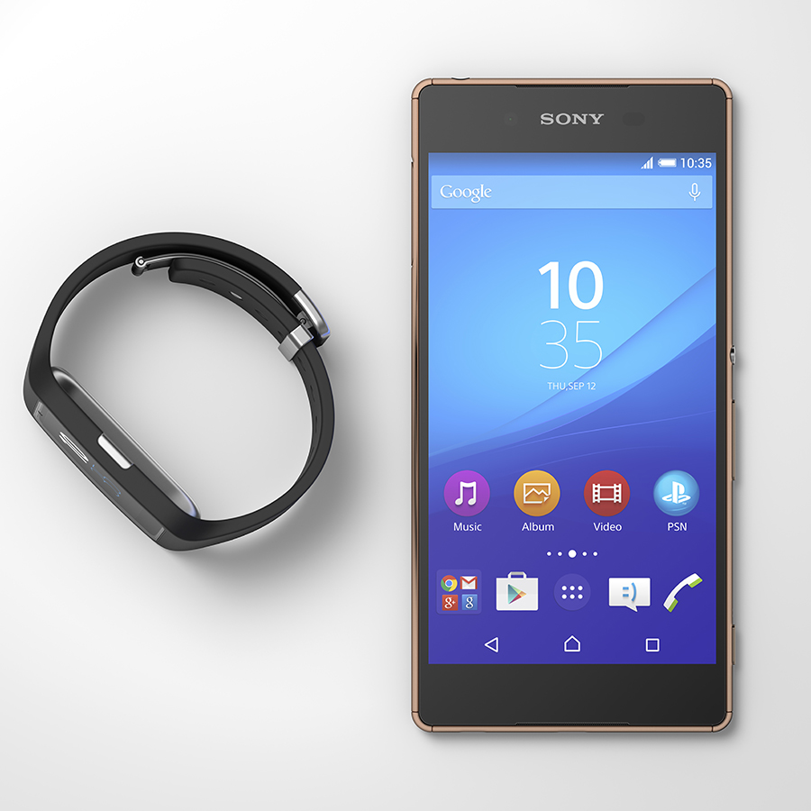 Sony Xperia Z3+ color copper con Smartwatch
