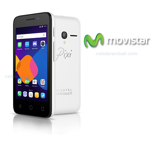 Alcatel Pixi 3 (4) en México con Movistar