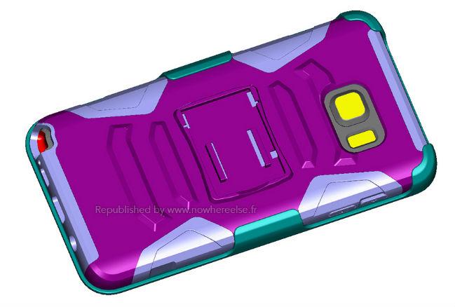 Render cubierta de Galaxy Note 5