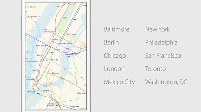 Apple iOS 9 Apple Maps con tránsito en la Ciudad de México disponible