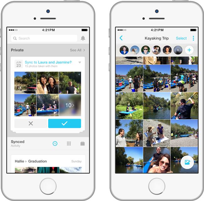 Facebook Moments app para compartir fotos