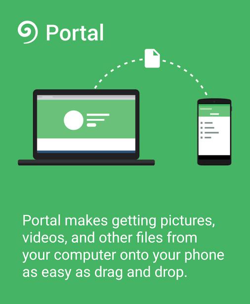 Portal app para Android, transferencia de archivos por WiFi
