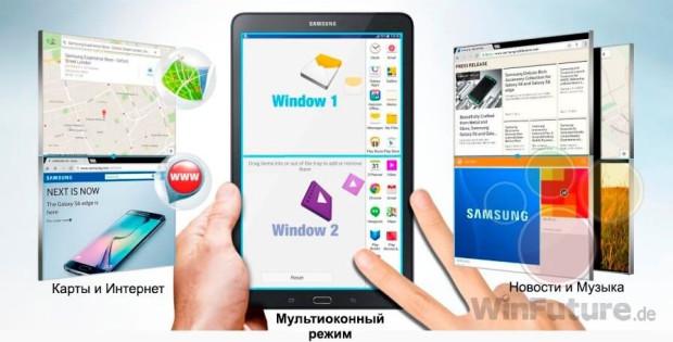 Galaxy Tab E 9.6 pantalla dividida