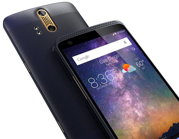 ZTE Axon phone pantalla y cámara con doble lente
