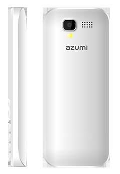 Azumi L2Z con Telcel color blanco cámara trasera
