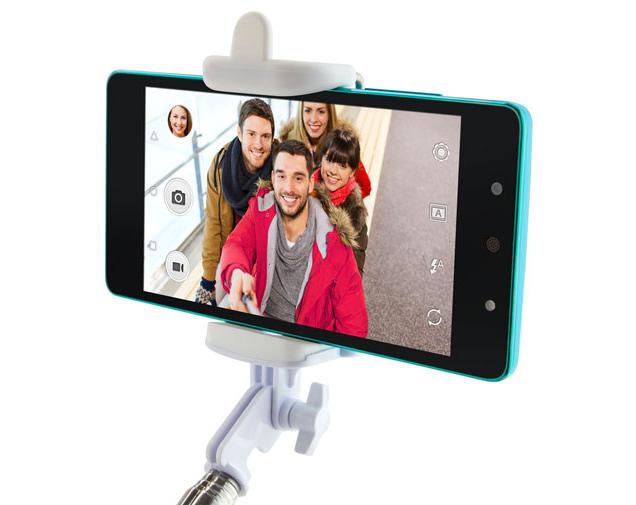 Blu Vivo Selfie blanco y negro con Selfie Stick