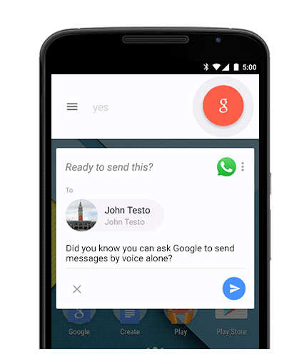 Google Now mensajes whatsapp