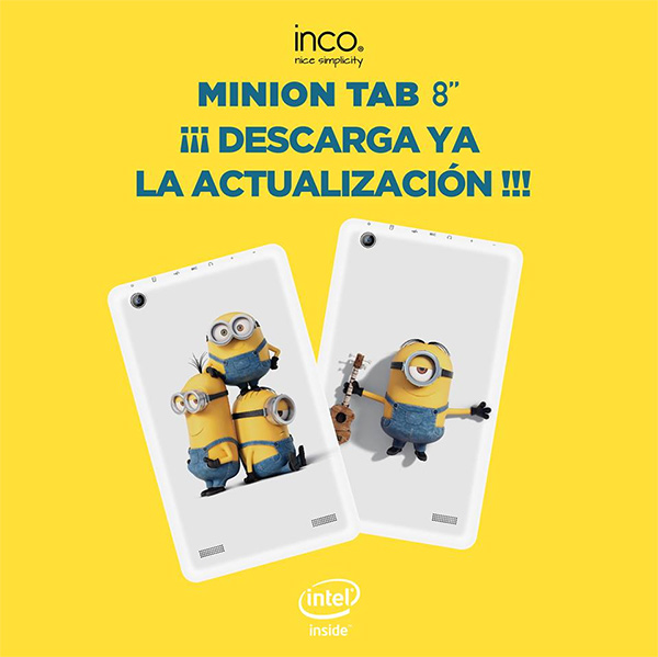 Nueva Inco Minion Tab de 8 pulgadas  personajes de la película de los Minions actualización