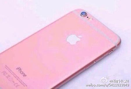 iPhone 6s color rosa parte posterior