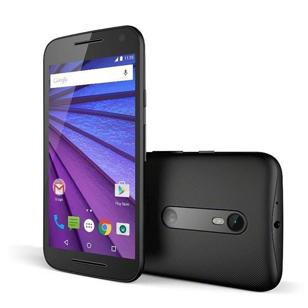 Motorola Moto G 2015 color negro pantalla y cámara
