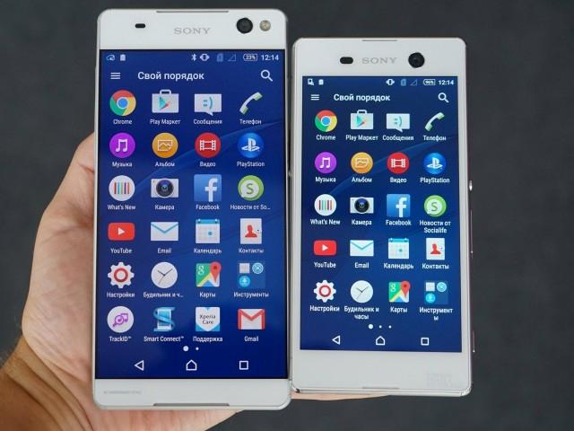 Sony Xperia C5 Ultra y Xperia M5 pantallas
