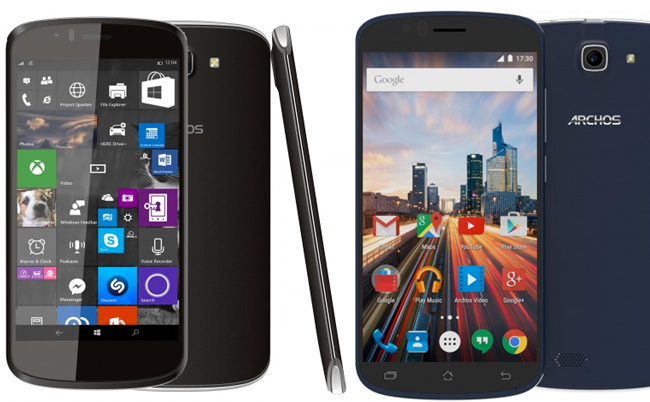 Archos 50e Helium y 50 Cesium con Android 5.1 Lollipop y Windows 10