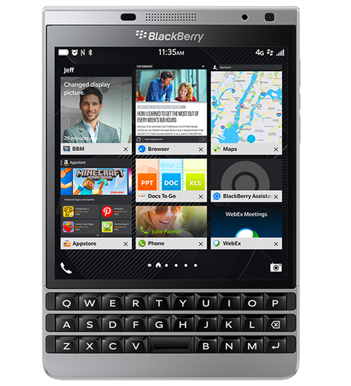 BlackBerry Passport Silver Edition con acero inoxidable