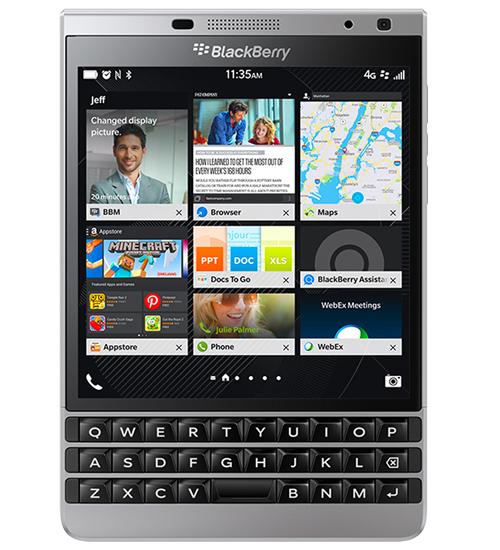 BlackBerry Passport Silver Edition con acero inoxidable