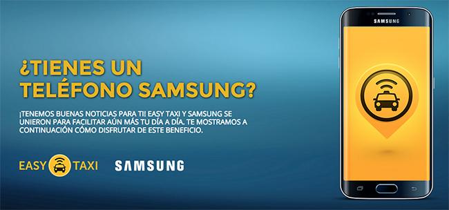 Easy Taxi y Samsung en México