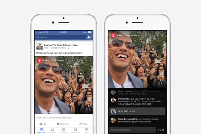 Facebook Video en streaming para celebridades