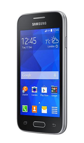 Samsung Galaxy Ace 4 Neo con Telcel color negro pantalla de lado