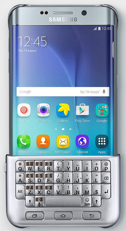 Samsung Galaxy S6 edge+ ccubierta con teclado qwerty
