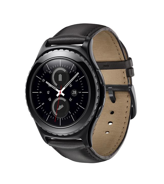 Samsung Gear S2 Classic color negro frente perfil izquierdo