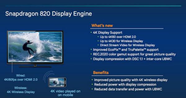 Snapdragon 820 con video 4K