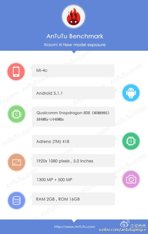 Xiaomi Mi 4C especificaciones