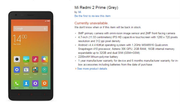 Xiaomi Redmi 2 Plus