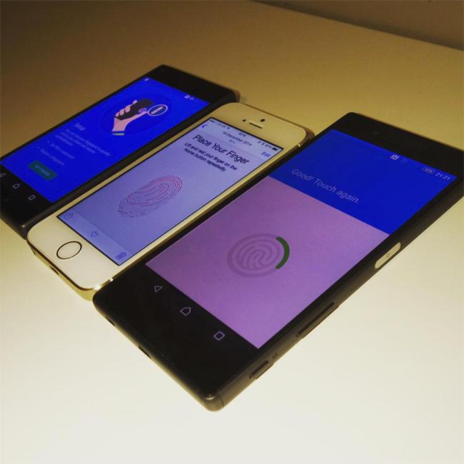 Los Sony Xperia Z5 y Z5 compact junto al iPhone 6