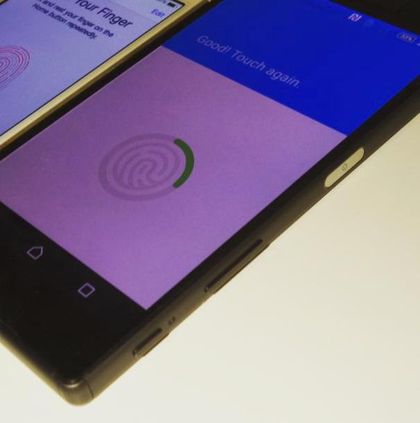 Los Sony Xperia Z5 y Z5 compact  sensor de huellas en botón encendido