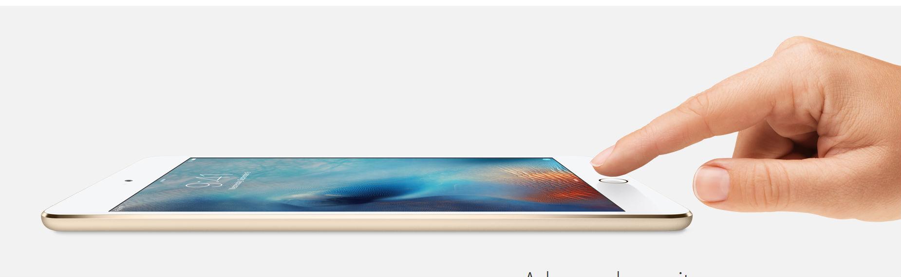 Apple iPad mini 4 sensor de huella