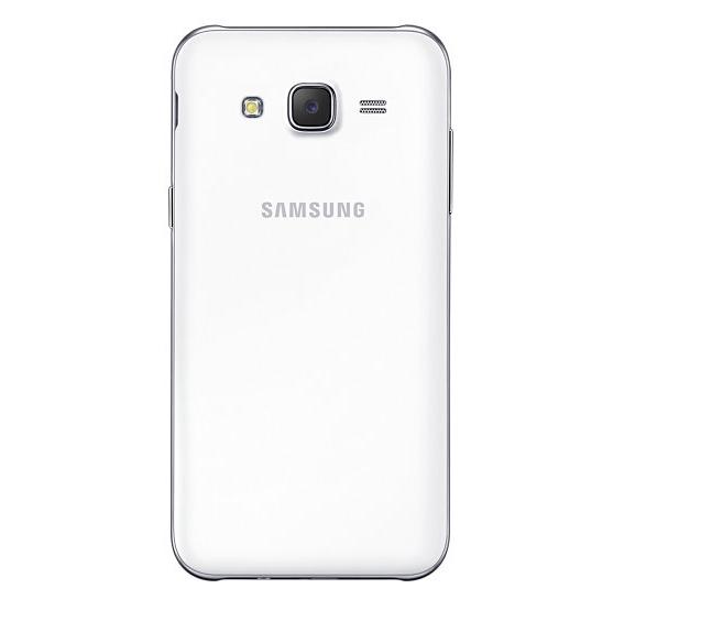Samsung Galaxy J5 en México color blanco posterior cámara trasera