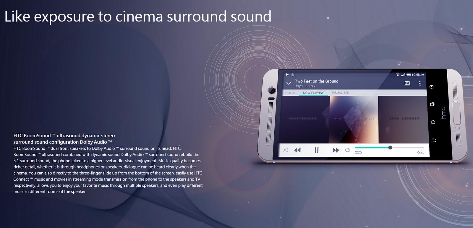 HTC One M9+ Premium Camera audio