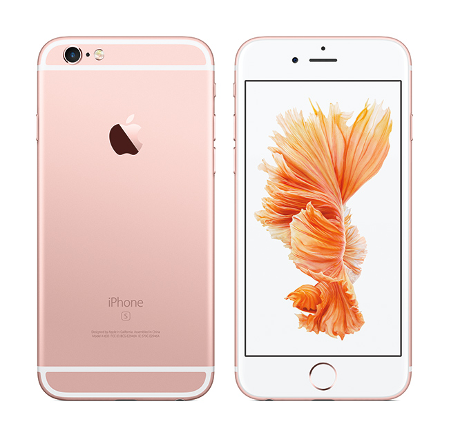 Apple iPhone 6s y iPhone 6s Plus pantalla y cámara trasera color oro rosado