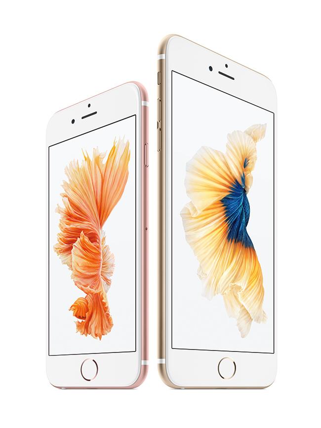 Apple iPhone 6s y iPhone 6s Plus pantallas