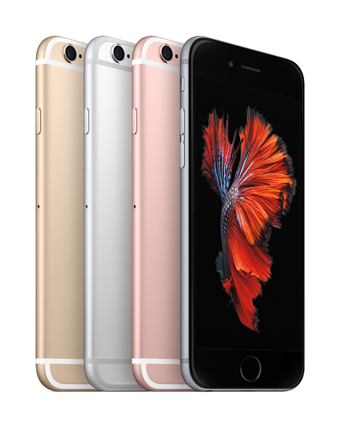 Apple iPhone 6s y iPhone 6s Plus colores