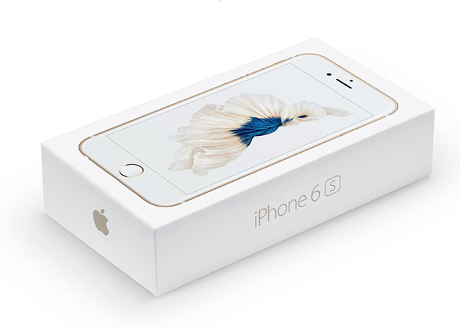 Apple iPhone 6s y iPhone 6s Plus caja de venta final